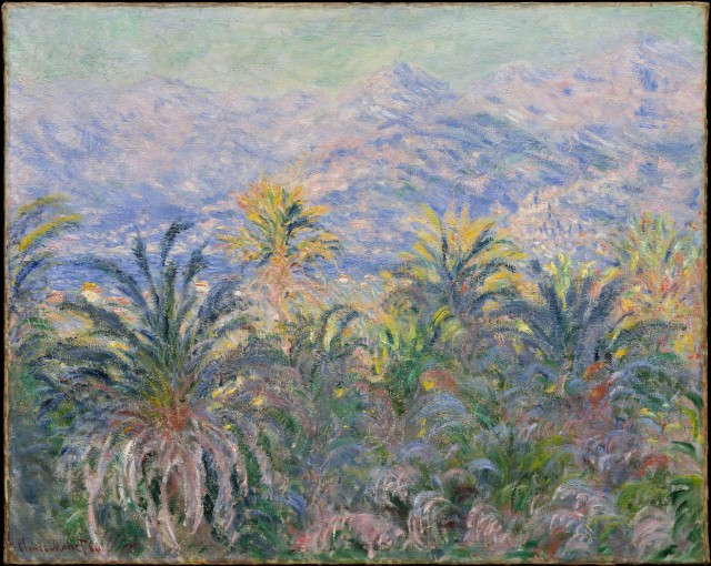 Monet_Palm trees